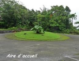 aire accueil carbet , cascades, basse terre sud, guadeloupe, antilles