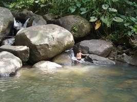 bassin , rivière quiock, route mamelles, guadeloupe