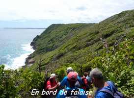 bord falaise TGT4 , grande terre, guadeloupe