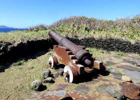 canon, grande Pointe, trois rivières, basse terre sud, guadeloupe