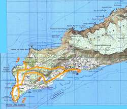 désirade ouest, carte ign,ile, guadeloupe