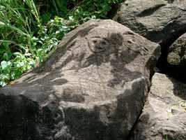 Pétroplyphe amérindien, Grande Pointe