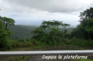 plateforme, chutes carbet, basse terre sud, guadeloupe