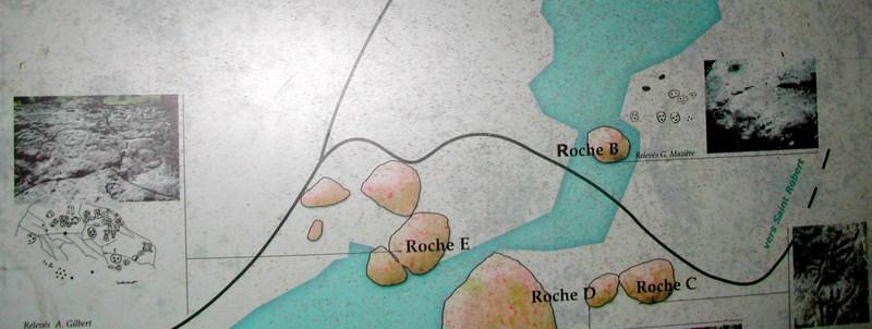 balade rivière plessis; plan des roches gravées, basse terre, guadeloupe, antilles