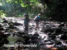traversée , rivière bras de fort, goyave, guadeloupe