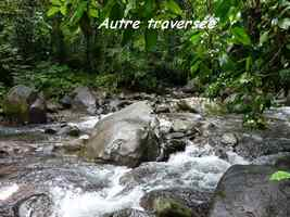 traversée, rivière, chutes moreau, goyave, basse terre nord, gaudeloupe