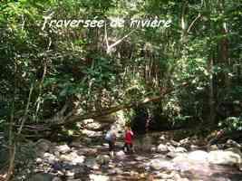 traversée, rivière bras de fort, goyave, guadeloupe